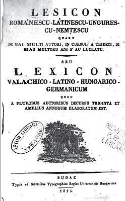 Lexiconul_de_la_Buda Lingua romena