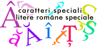 caratteri-speciali_RO Special characters of the Romanian language
